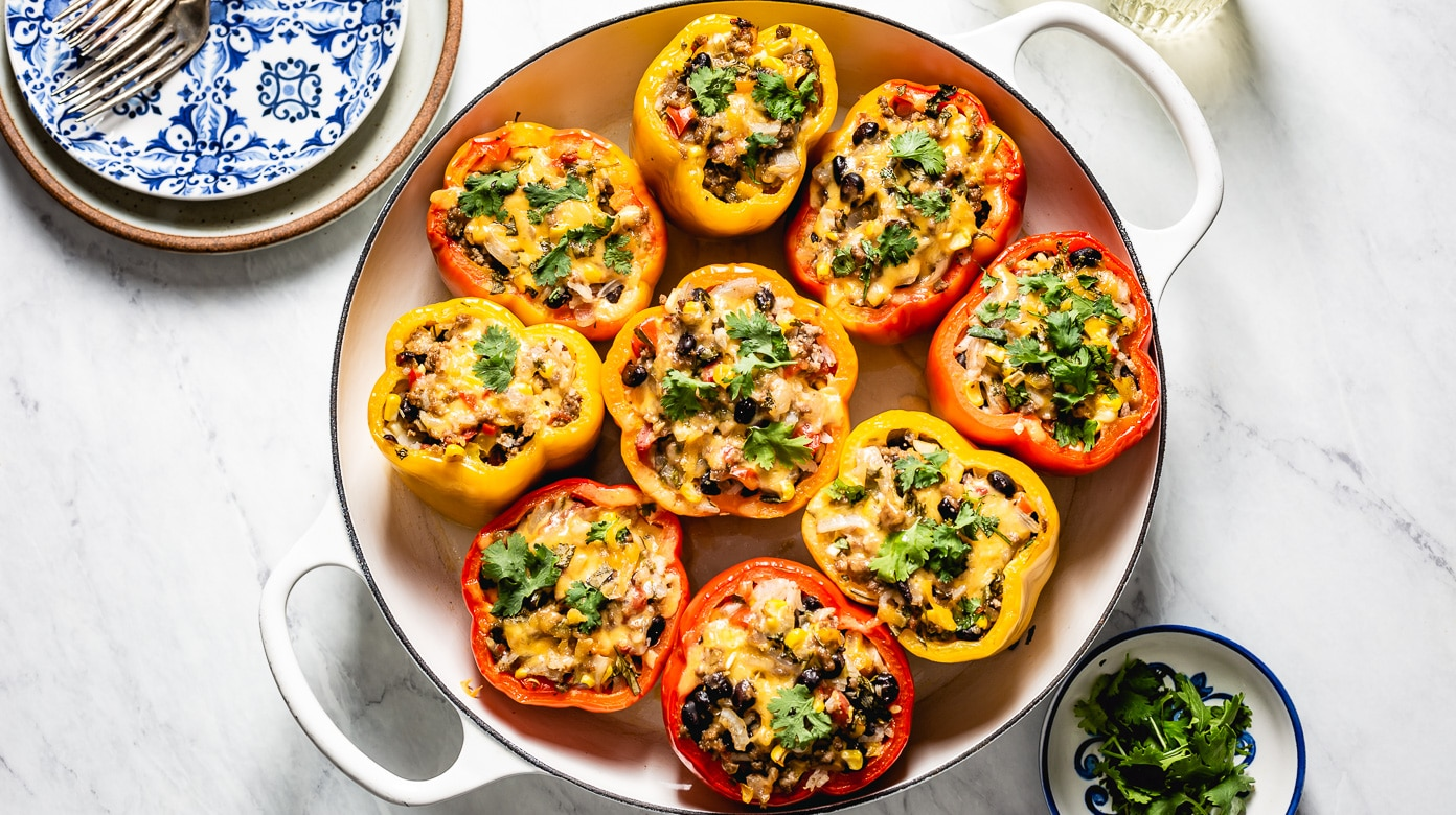 Stuffed Bell Peppers Recipe by Cooking Teach