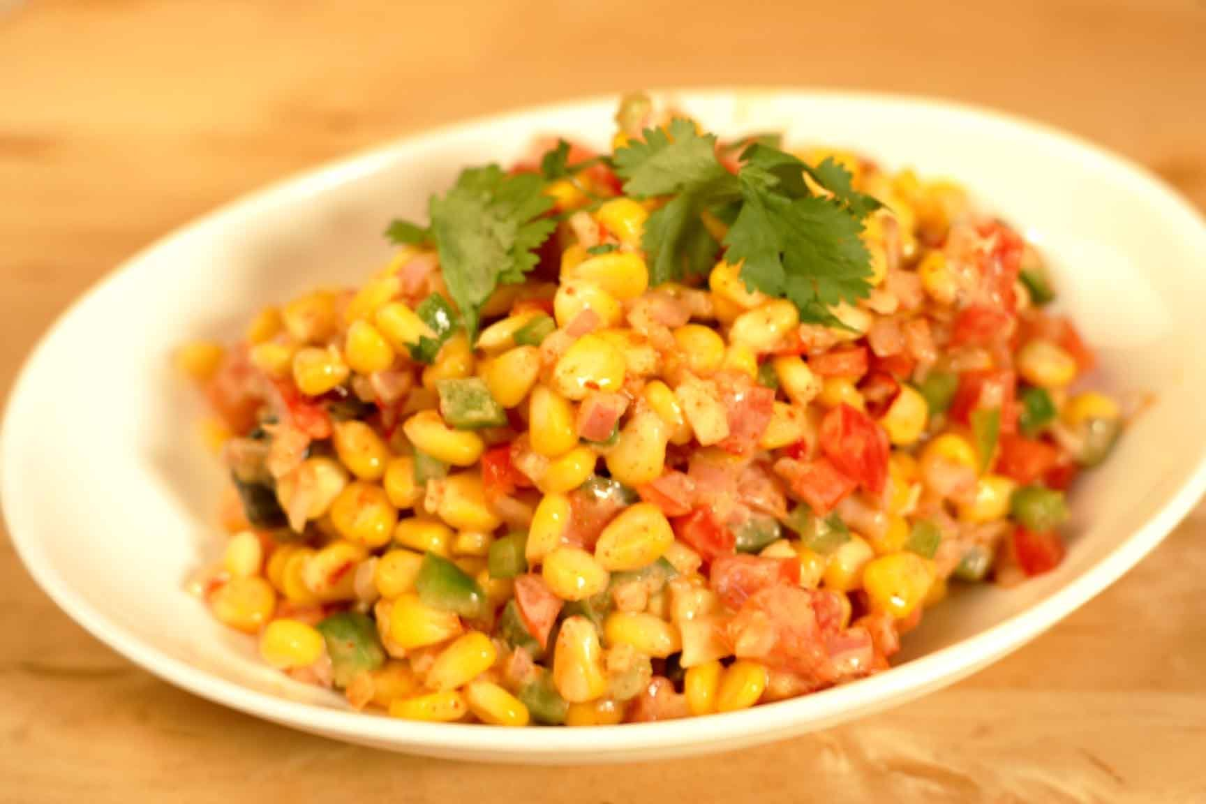Corn Chaat Recipe By Cooking Teach