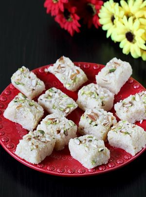 Instant Coconut Barfi by Cooking Teach